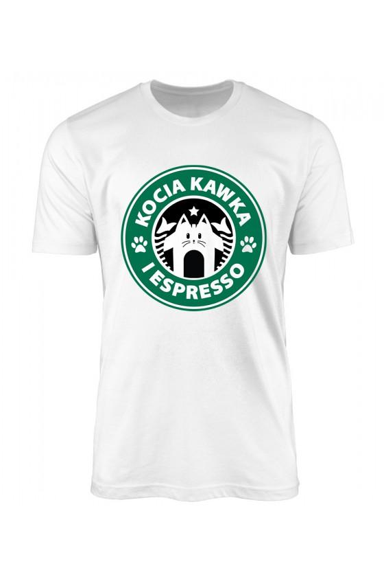 Koszulka Męska Kocia Kawka I Espresso