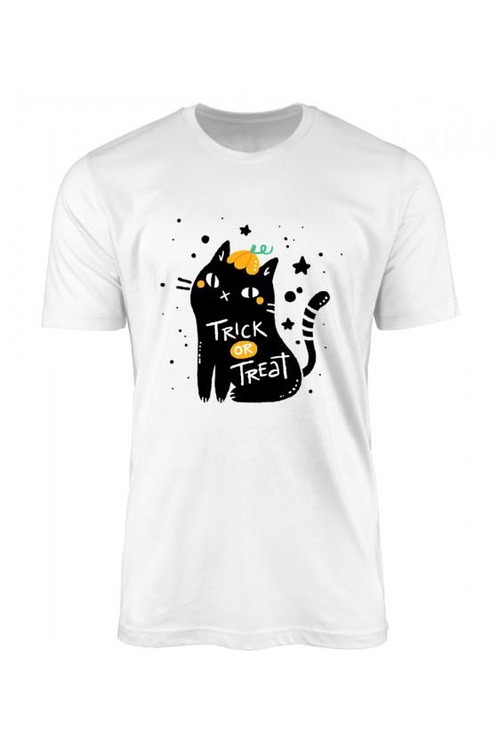 Koszulka Męska Cukierek Albo Czyścisz Kuwetę