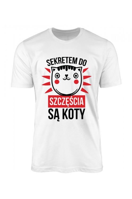 Koszulka Męska Sekretem Do Szczęścia Są Koty