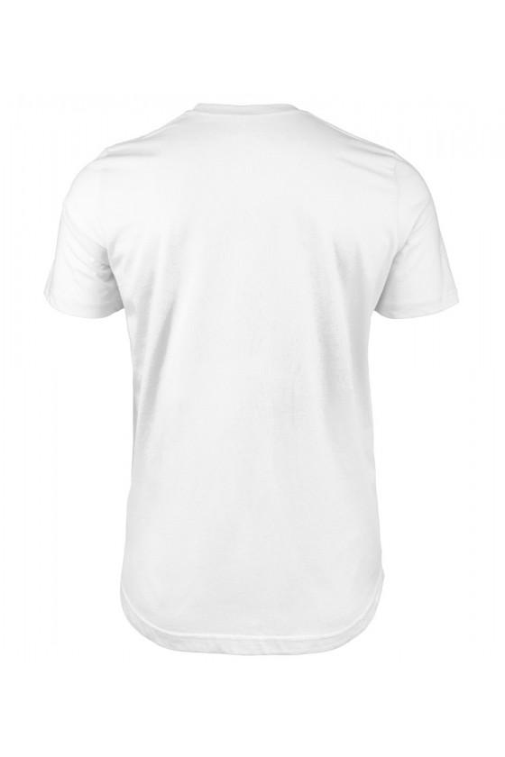 Koszulka Męska Droga Kota Zawsze Idzie Przez Przeklętą Klawiaturę