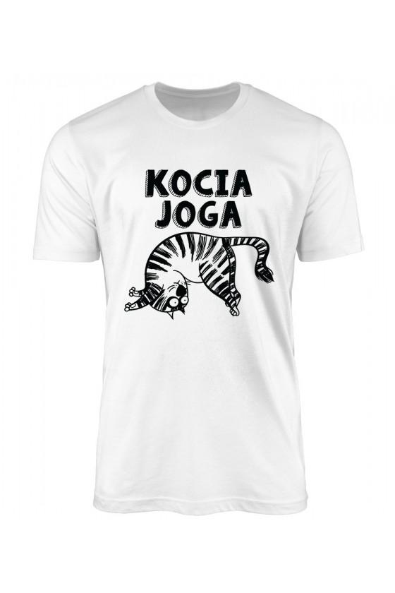 Koszulka Męska Kocia Joga