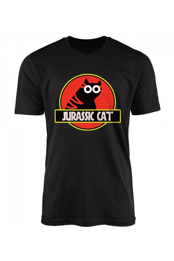 Koszulka Męska Jurassic Cat