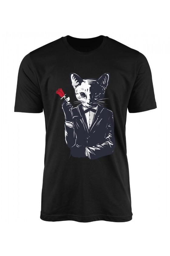 Koszulka Męska Romantyk Z Różą