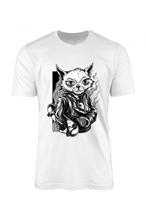 Koszulka Męska Independent Skater Czarno Biały