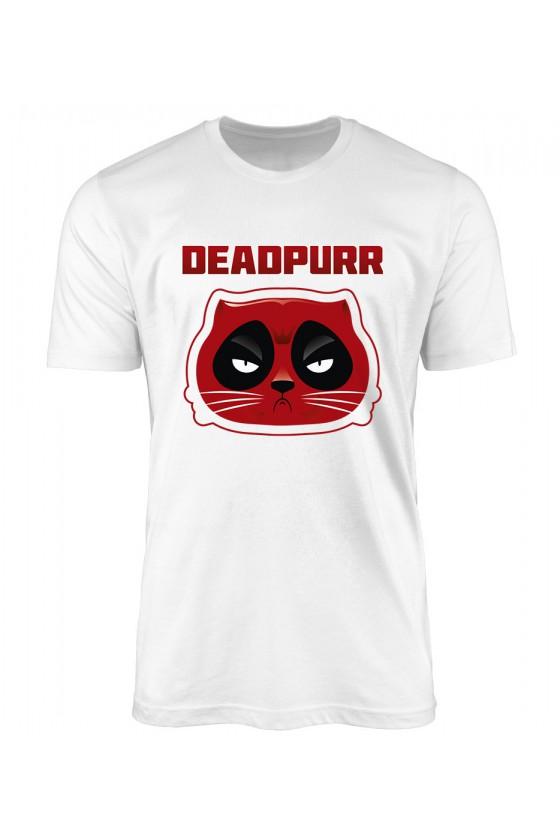 Koszulka Męska Kot Deadpurr Jak Deadpool