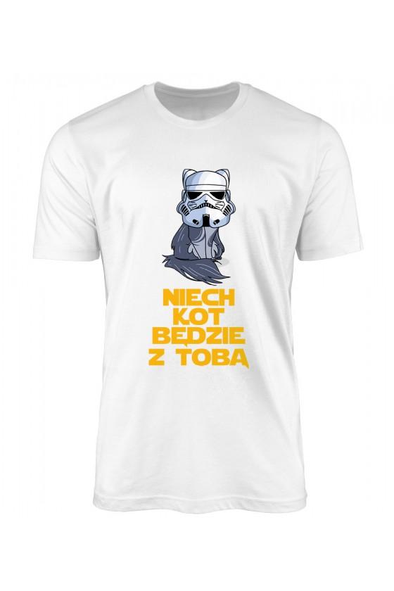 Koszulka Męska Niech Kot Będzie Z Tobą