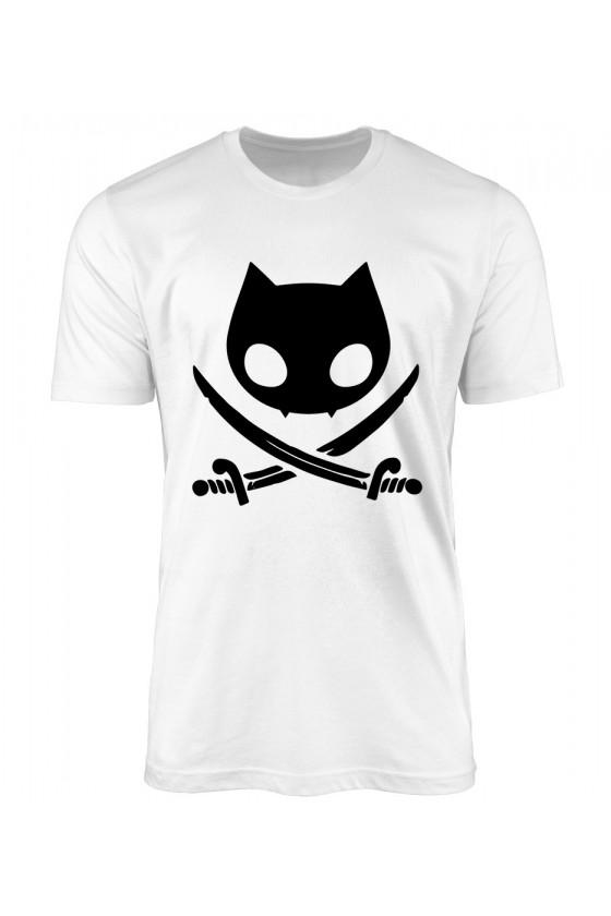 Koszulka Męska Koci Pirat