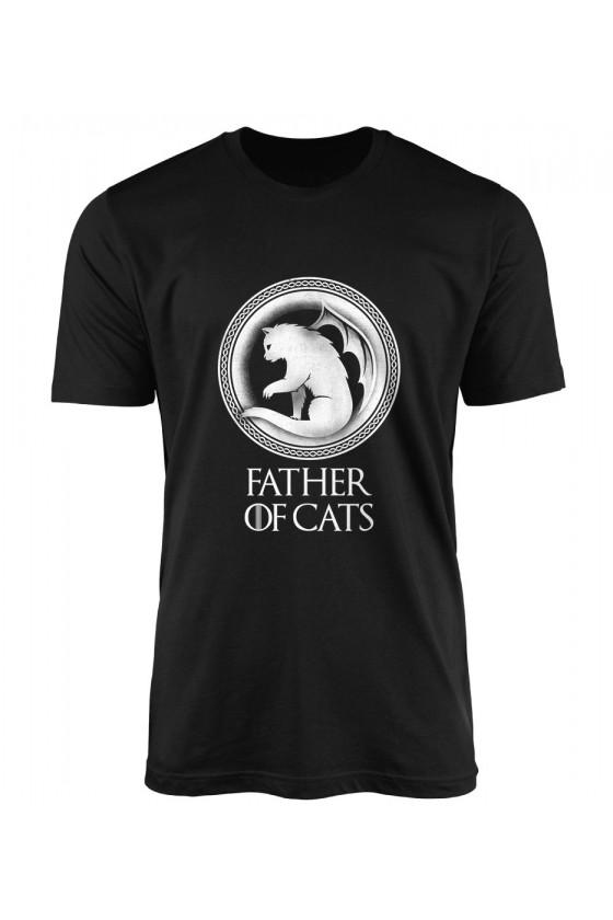 Koszulka Męska Father Of Cats