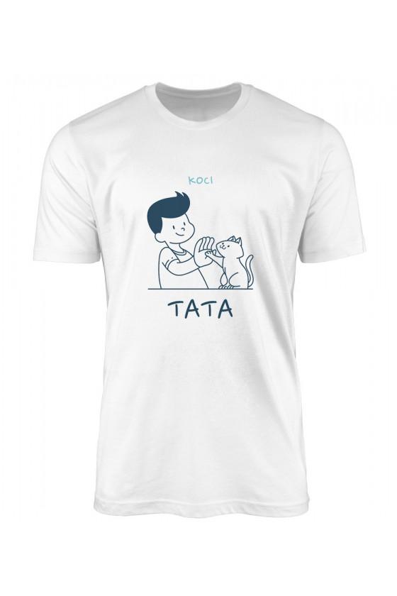 Koszulka Męska Koci Tata