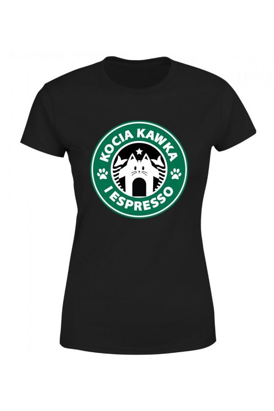 Koszulka Damska Kocia Kawka I Espresso