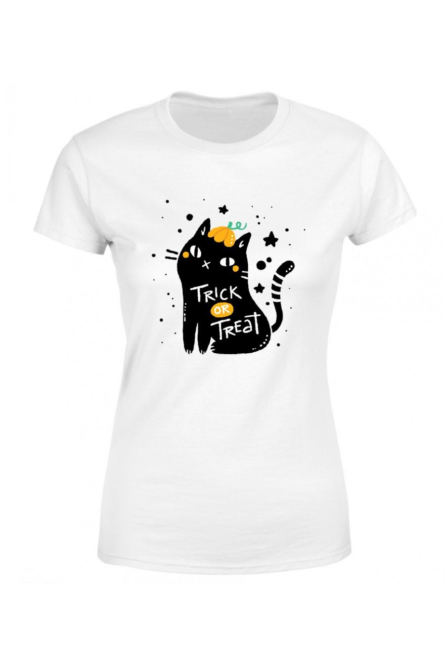Koszulka Damska Cukierek Albo Czyścisz Kuwetę