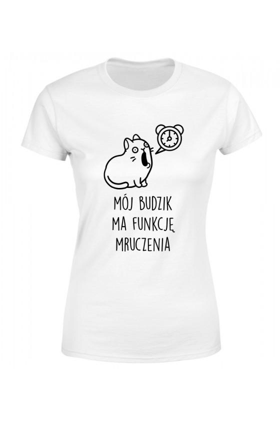 Koszulka Damska Mój Budzik Ma Funkcję Mruczenia