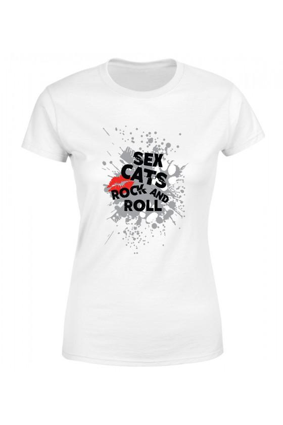 Koszulka Damska Sex Cats Rock And Roll
