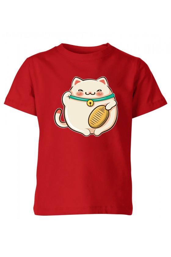 Koszulka Dziecięca Kotek Szczęścia