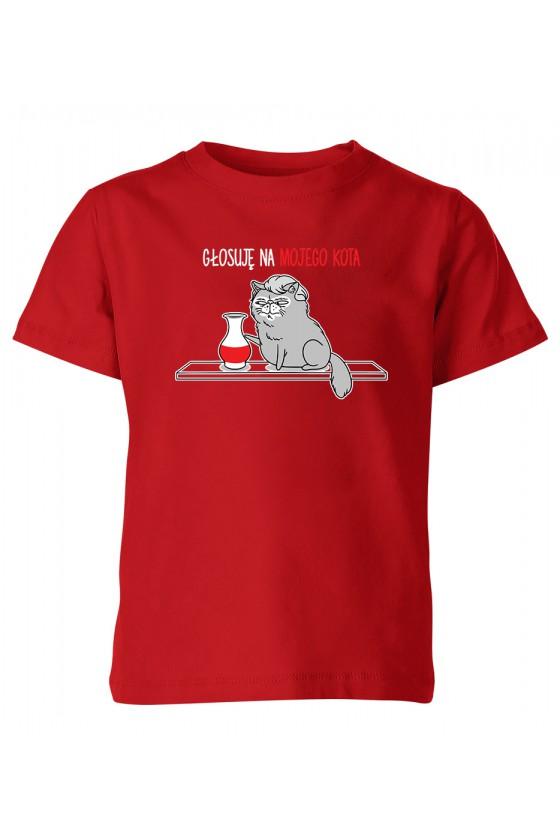 Koszulka Dziecięca Polityczna Głosuję Na Mojego Kota Z Kocurem