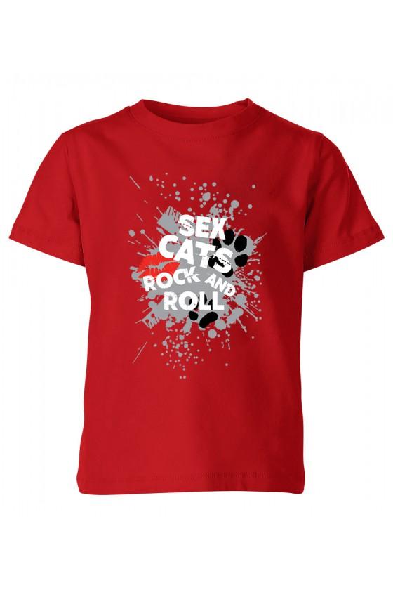 Koszulka Dziecięca Sex Cats Rock And Roll