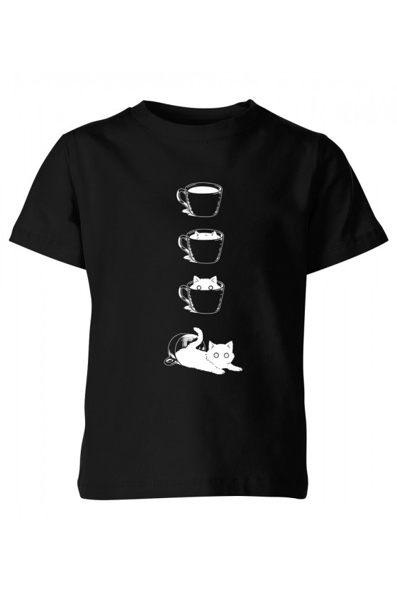 Koszulka Dziecięca Kot I Filiżanka