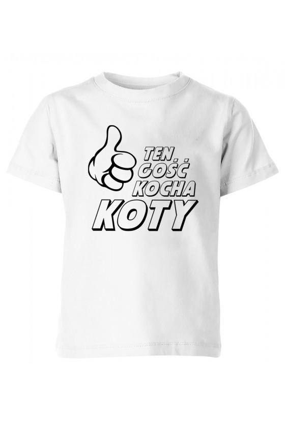 Koszulka Dziecięca Ten Gość Kocha Koty