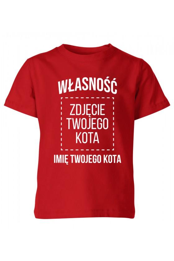 Koszulka Dziecięca Własność Kota - Imię Kota