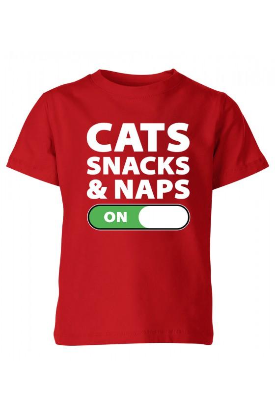 Koszulka Dziecięca Cats Snacks And Naps