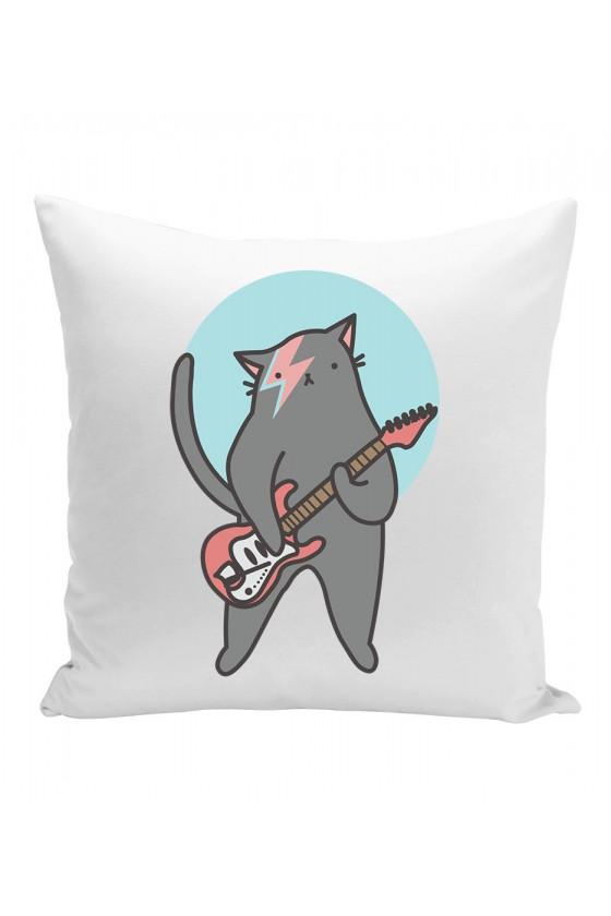 Poduszka Kot Z Gitarą Bowie