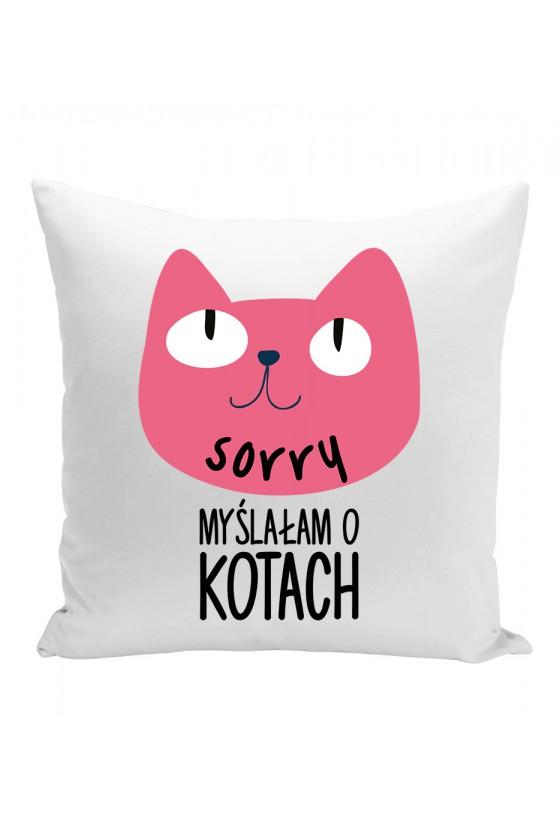 Poduszka Sorry Myślałam O Kotach 2