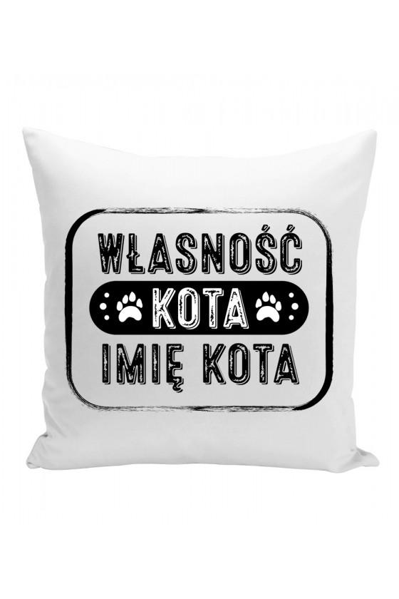 Poduszka Własność Twojego Kota Imię Kota