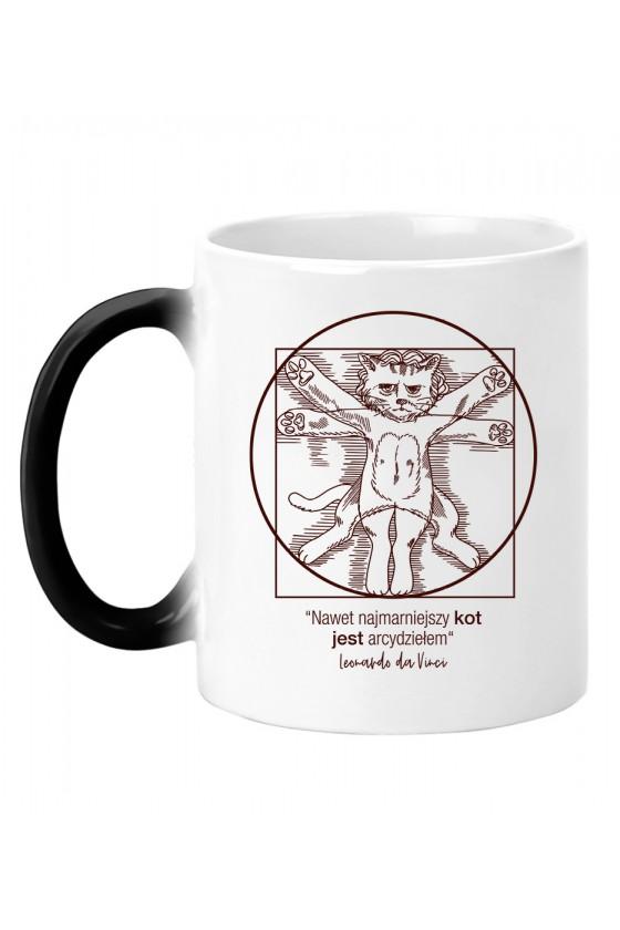 Kubek Magiczny Nawet Najmarniejszy Kot Jest Arcydziełem - Da Vinci