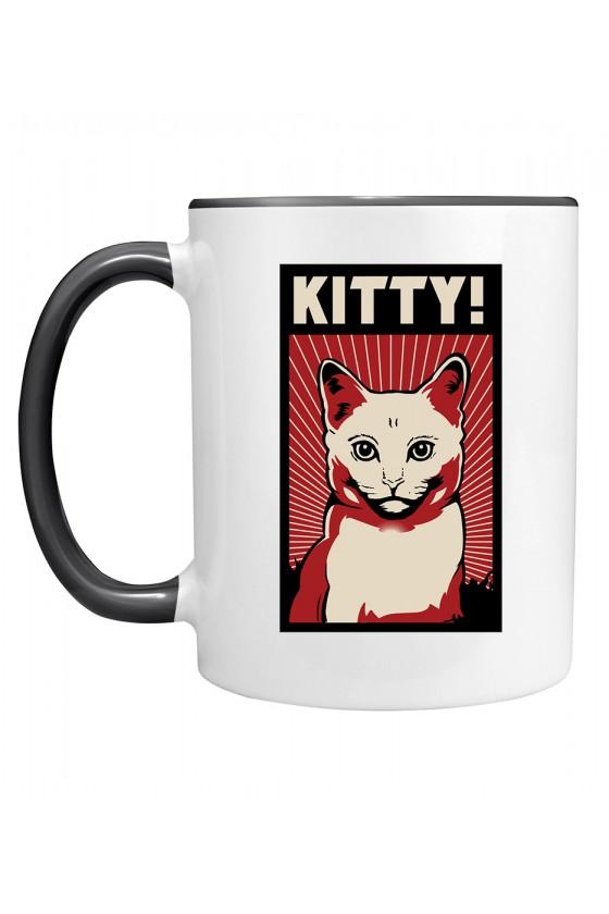 Kubek z Kolorowym Uchem Kitty!