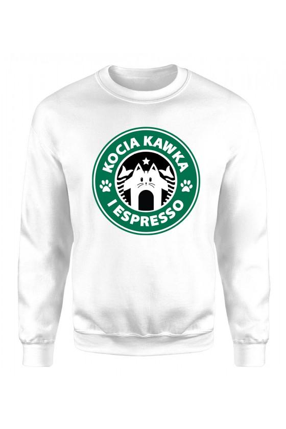 Bluza Klasyczna Męska Kocia Kawka I Espresso