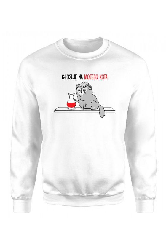 Bluza Klasyczna Męska Polityczna Głosuję Na Mojego Kota Z Kocurem