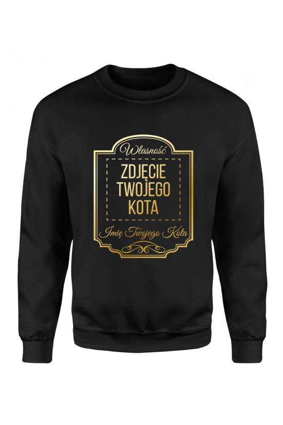 Bluza Klasyczna Męska Własność Twojego Kota Premium