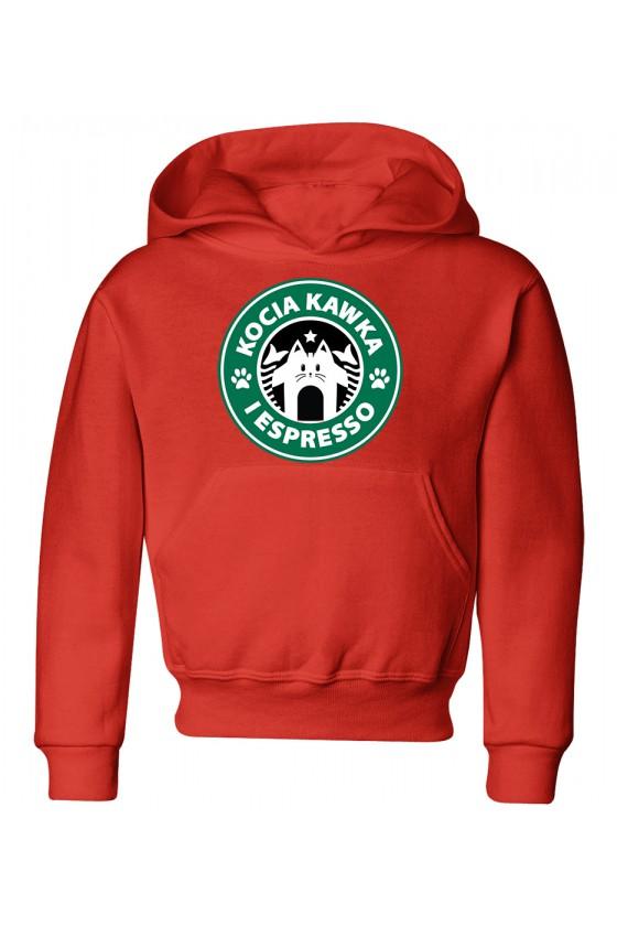 Bluza Dziecięca z Kapturem Kocia Kawka I Espresso