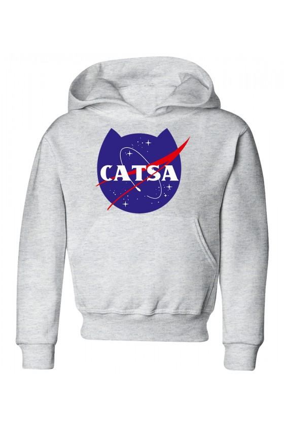 Bluza Dziecięca z Kapturem Catsa Kosmiczny Kot