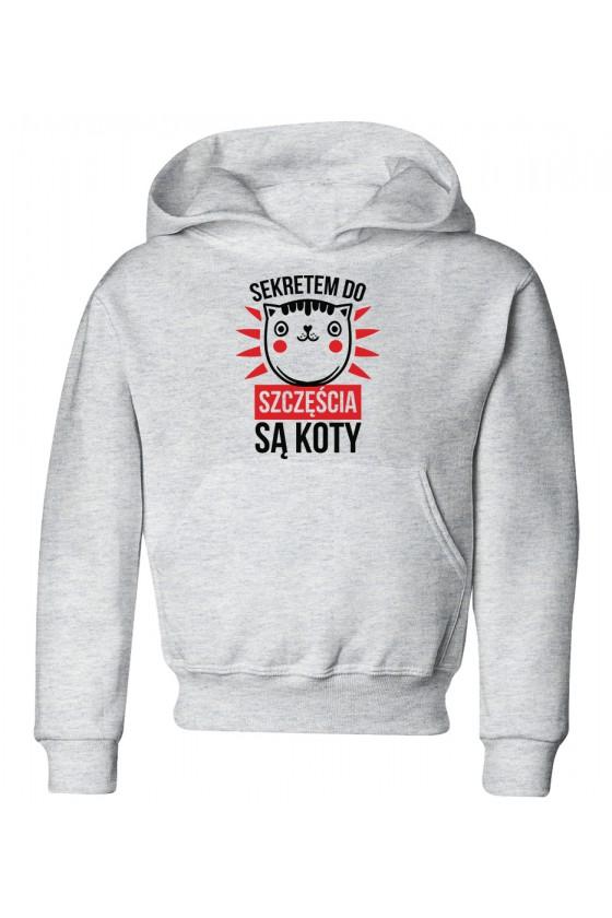Bluza Dziecięca z Kapturem Sekretem Do Szczęścia Są Koty