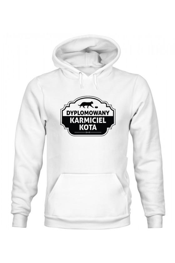Bluza z Kapturem Męska Dyplomowany Karmiciel Kota
