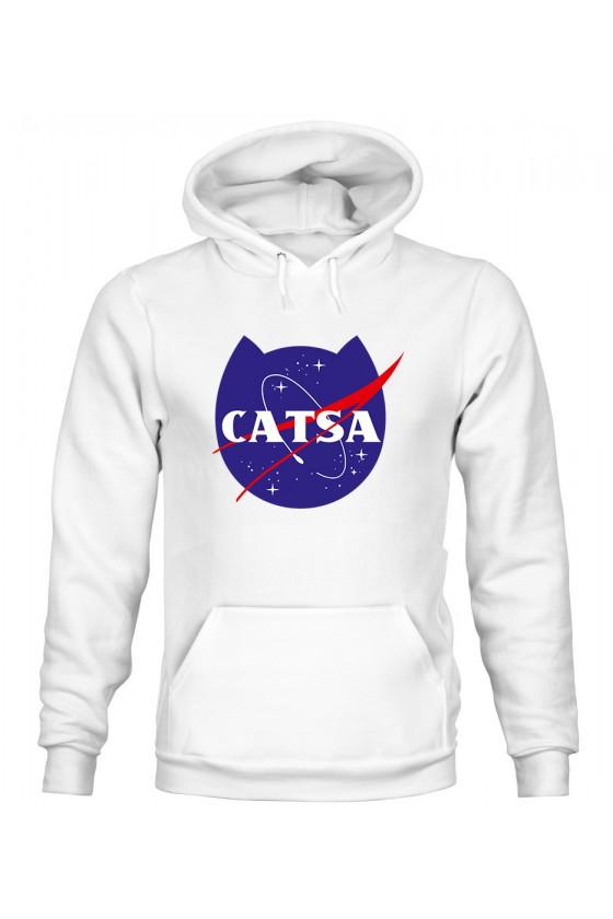 Bluza z Kapturem Męska Catsa Kosmiczny Kot