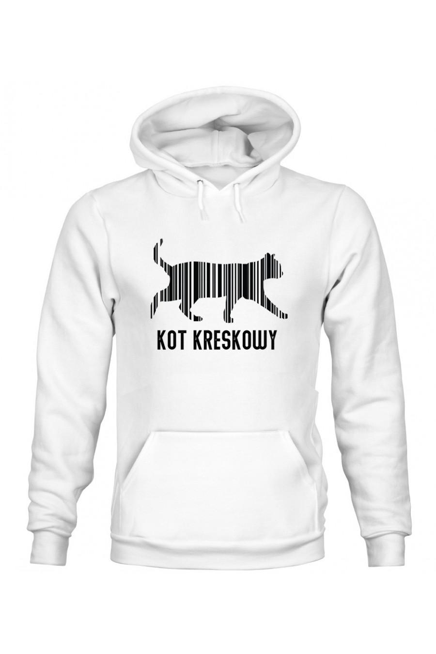 Bluza z Kapturem Męska Kot Kreskowy