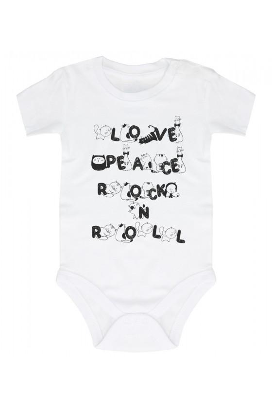 Body Niemowlęce Love Peace Rock N Roll
