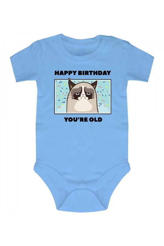 Body Niemowlęce Happy Birthday