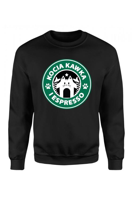 Bluza Klasyczna Damska Kocia Kawka I Espresso