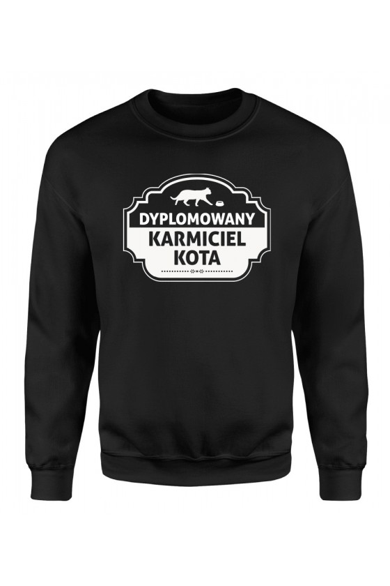 Bluza Klasyczna Damska Dyplomowany Karmiciel Kota