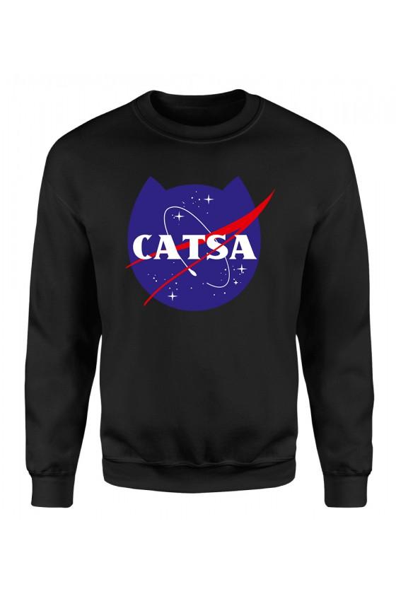 Bluza Klasyczna Damska Catsa Kosmiczny Kot