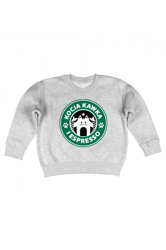Bluza Dziecięca Bez Kaptura Kocia Kawka I Espresso