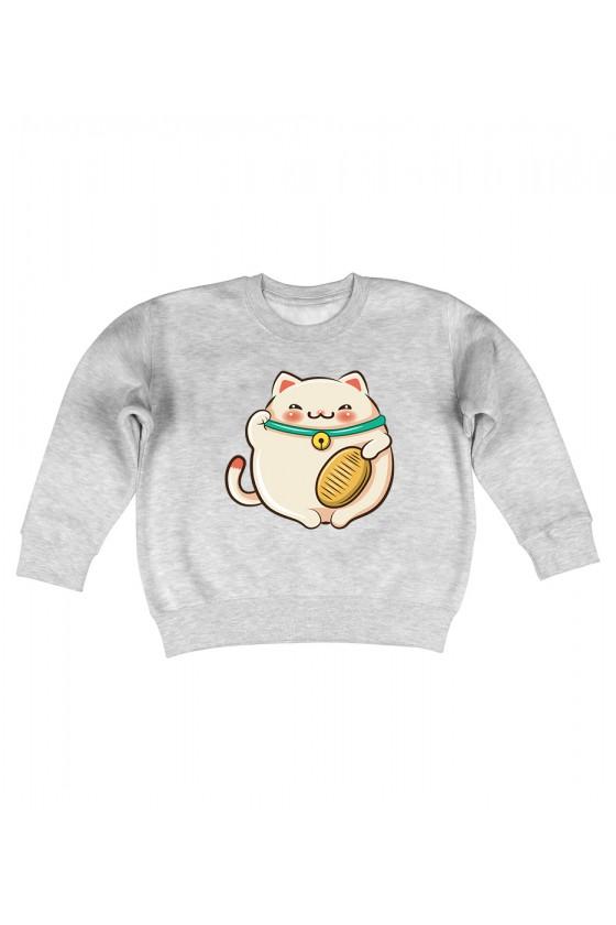 Bluza Dziecięca Bez Kaptura Kotek Szczęścia