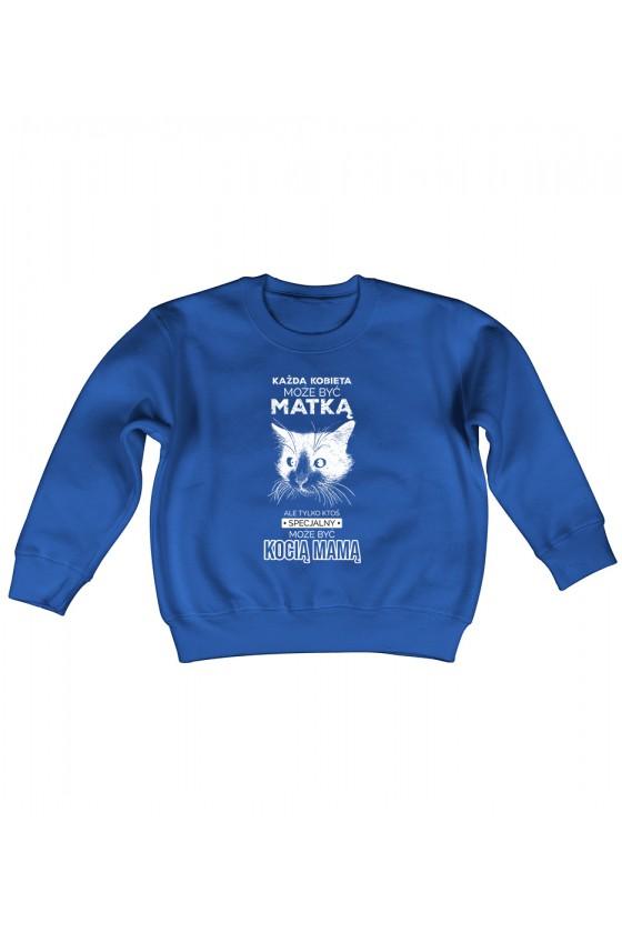 Bluza Dziecięca Bez Kaptura Kocia Mama