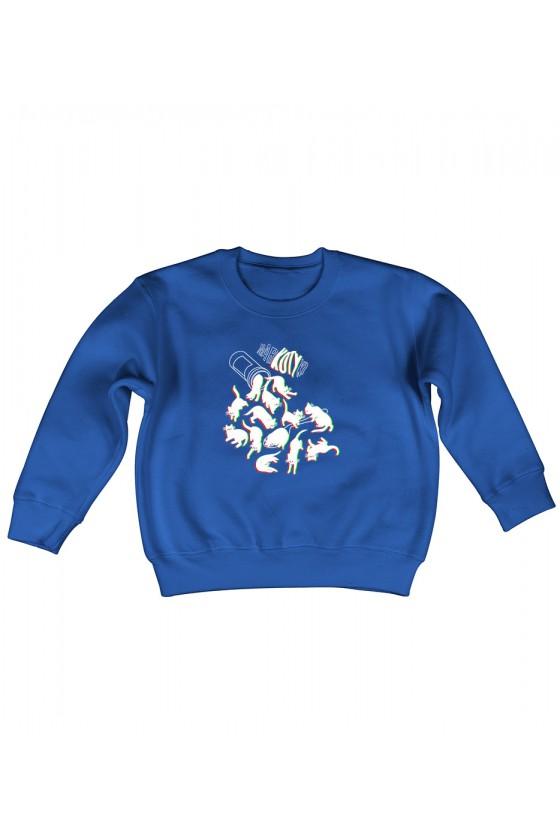 Bluza Dziecięca Bez Kaptura Narko Kotki