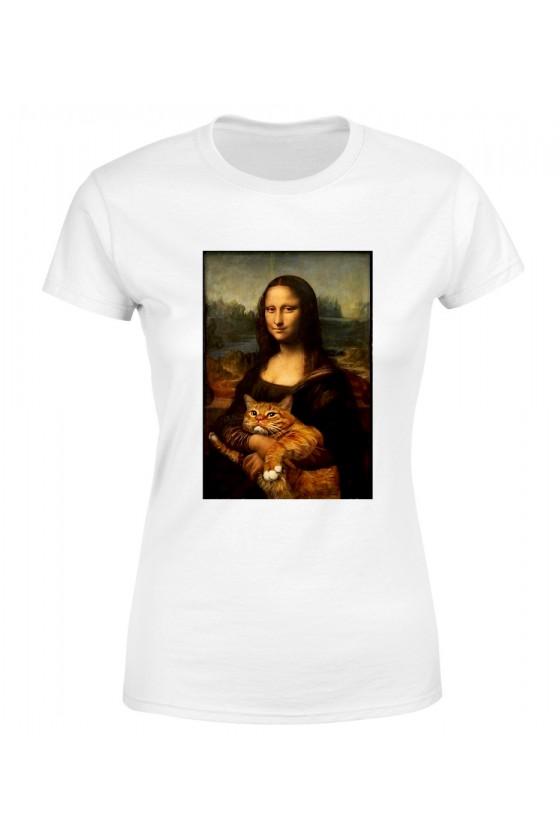 Koszulka Damska Mona Lisa Z Kotem